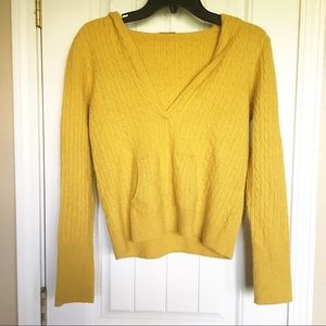J Crew Pullover Hooded Sweater w/Pockets Sz Sm/M